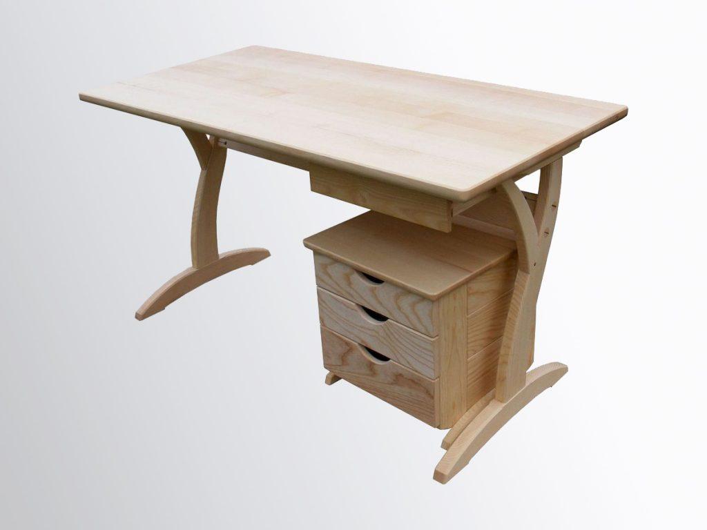 Gyerek íróasztal, kőrisfa