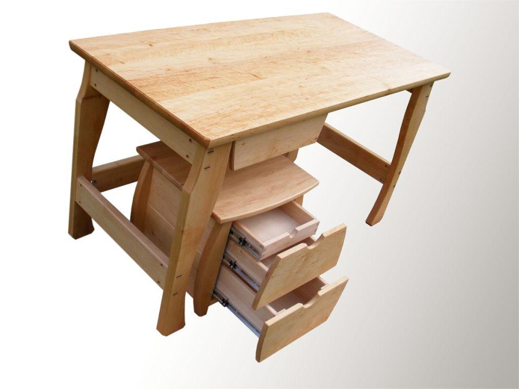 Fa gyerek íróasztal
