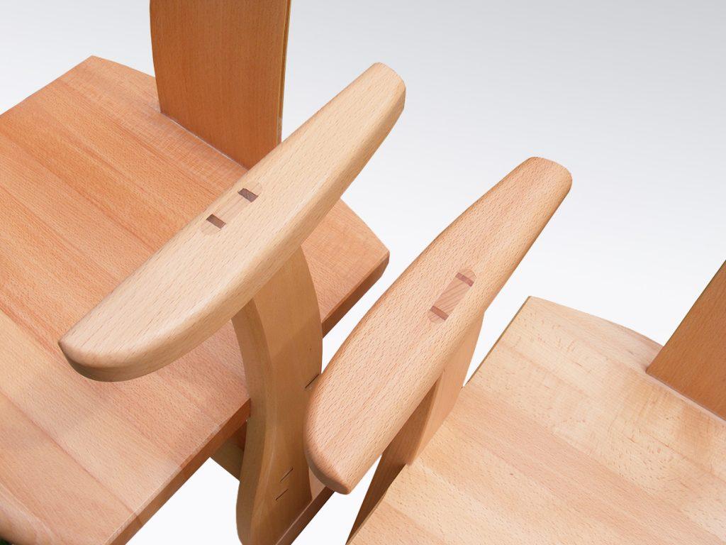 Ékelt szék karfa